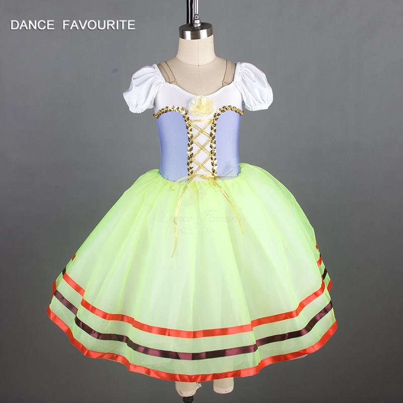 Adult spandex bodice romantic length ballet tutu, lady stage performance ballet costume tutu ballerina girl dance costume tutu