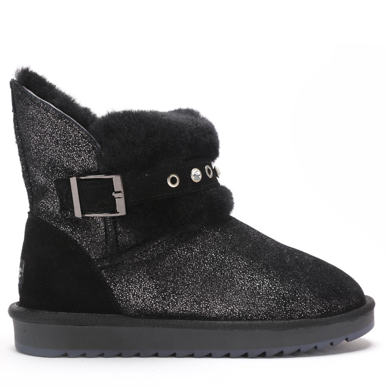 GOGC Glitter 100% Genuine Leather Ankle Boots Women Crystal Fur Lined  Winter Boots Woman Luxury Women s Boots for Winter G9839-in Ankle Boots  from Shoes on ... 7b15e1b5715b