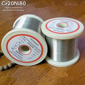 1PCS/20meters  YT2172 Nichrome wire Diameter 0.1MM-0.45MM Cr20Ni80 Heating Resistance Alloy heating yarn Mentos