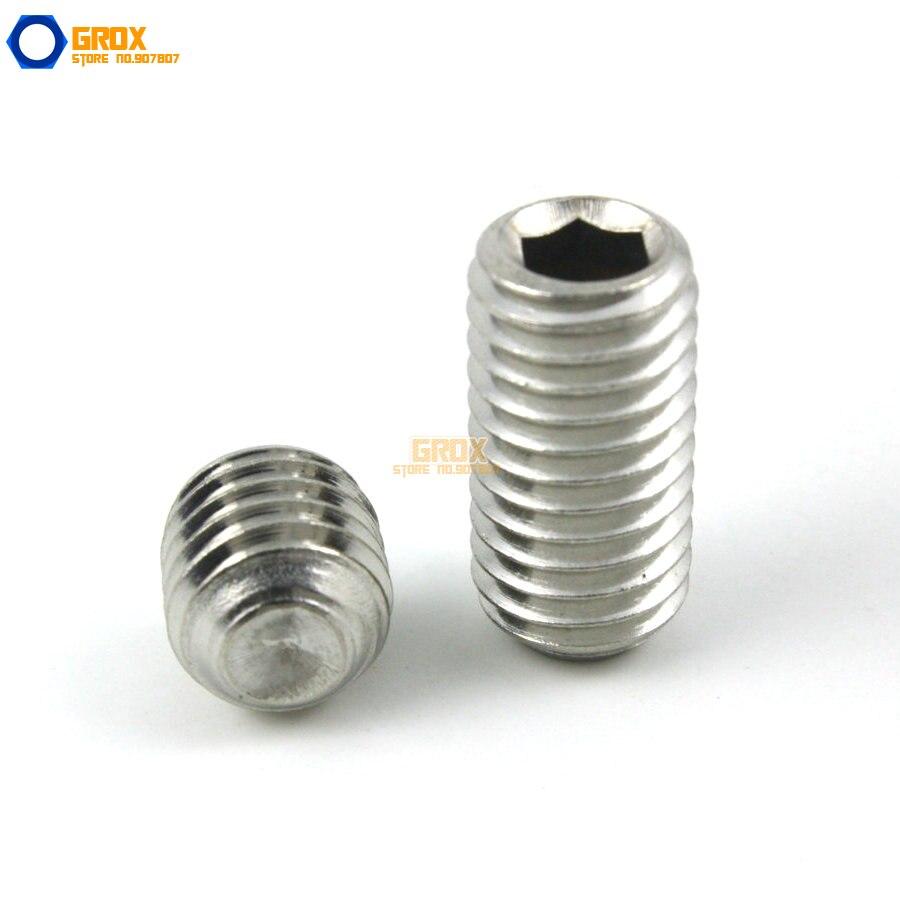 M3 316 Stainless Steel Grub Screws Cup Point Hex Socket Set Screw 50pcs m3 stainless steel allen head hex socket grub screw bolts nuts fasteners with cone point m3 screws m3 x4 6 8 10 12 16mm