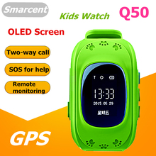 Original Q50 GPS Smart Kid Safe Watch SOS Call Location Finder Locator Tracker for Kids Child Anti Lost Monitor Baby Wristwatch