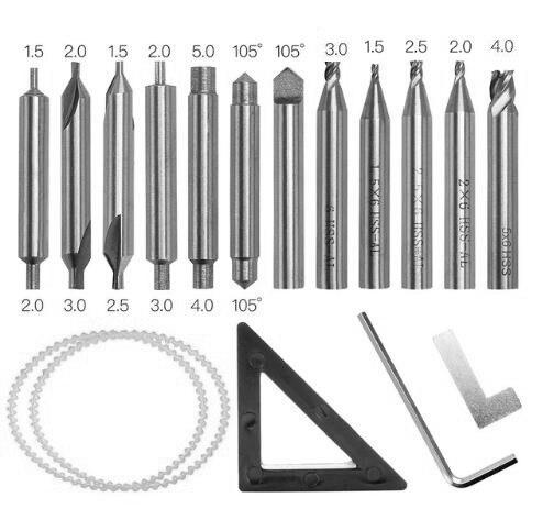 De hele set Frezen met reserveonderdeel voor verticale sleutel - Handgereedschap - Foto 5