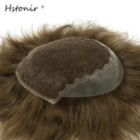 6 Inch Natural Straight Hair Mens Toupee 8 10 Inch Swiss Lace And PU Mens Toupee
