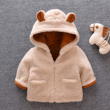 Baby boys warm jackets winter toddler thick velvet hoodies outerwear for bebe boys newborn cute coats clorhing infant doorout(China)
