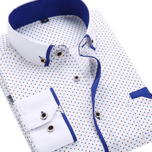Мужская рубашка Printed Plaid Polka Dot