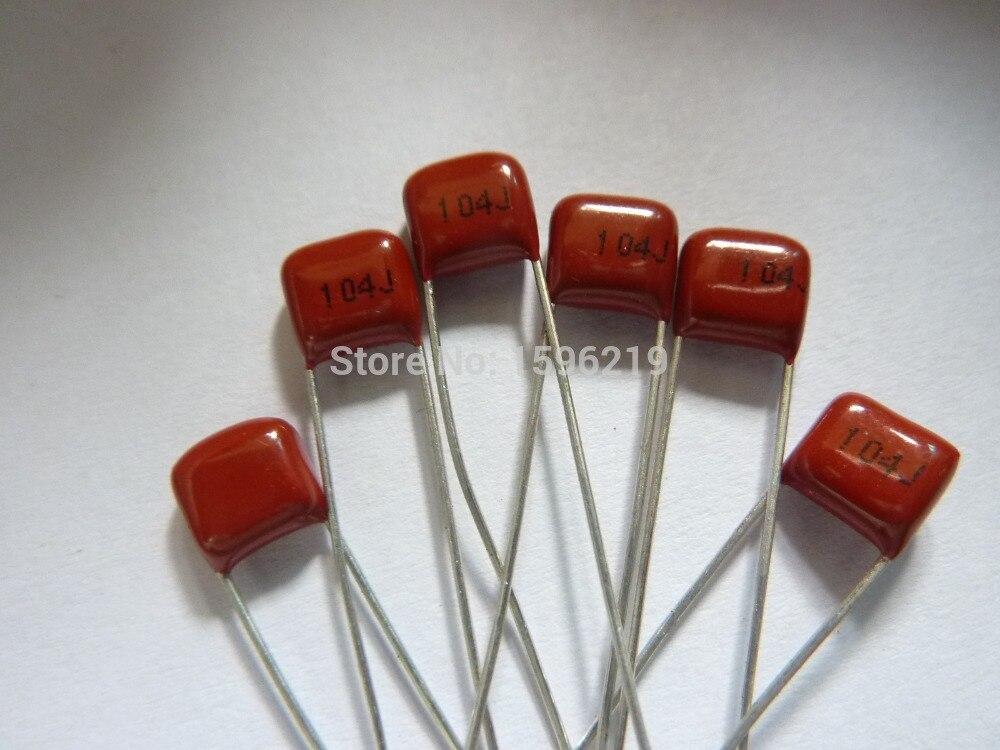 10pcs CBB Capacitor 104 100V 104J 0.1uF 100nF P5 Metallized Polypropylene Film Capacitor