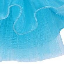 Fancy Blue Kid Girls Ballet Tutu Dress Sequined Dancewear Sleeveless Ball Gown Tutu Dress Professional GYM Leotard for 2-8Y