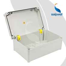 220*340*150mm  Built-in Hinge Type PC Waterproof Box with Plastic Screw Design   SP-PC-223415
