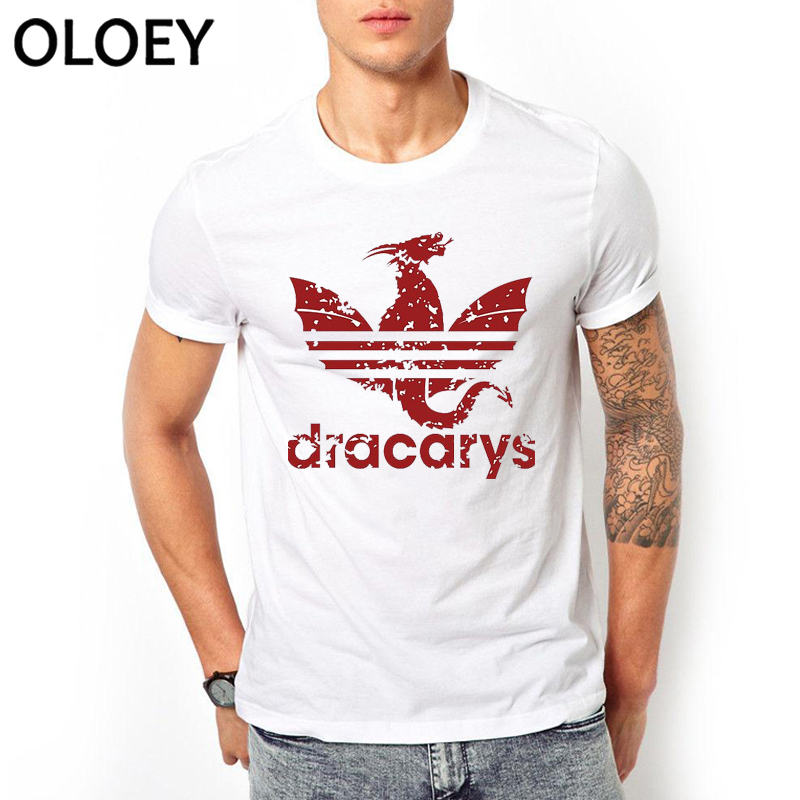 Men Dracarys tshirt Vintage Harajuku Clothes Aesthetic Camisetas Mother of Dragon Daenerys   t     shirt   Game of Thrones Hombre Tops