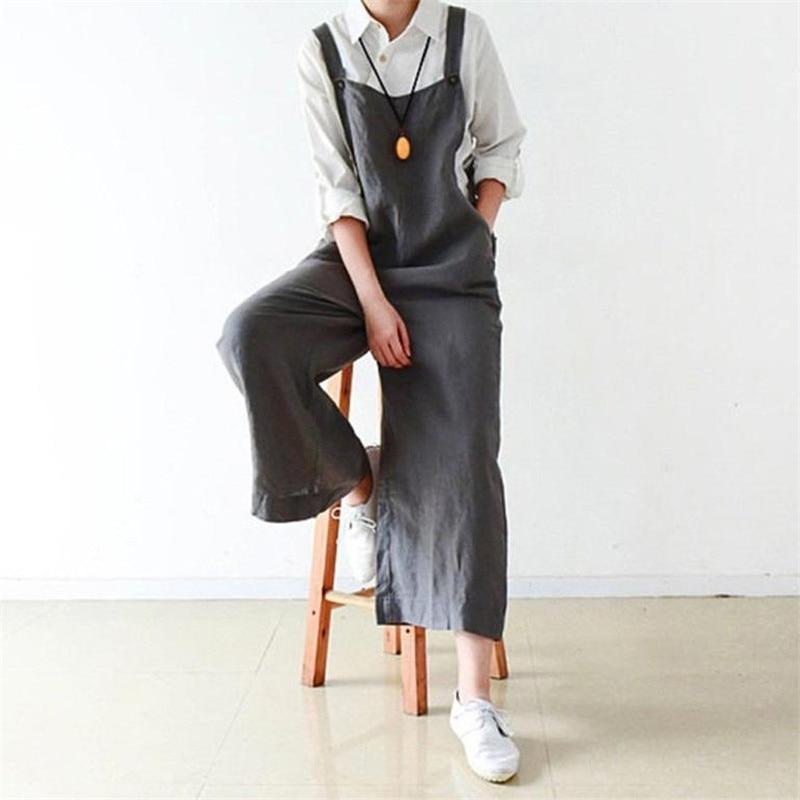 2018 rompers womens jumpsuit Cotton Cargo Pants Bib Overalls Dungaree Wide Leg Trousers Jumpsuit Romper womens jumpsuit x30620