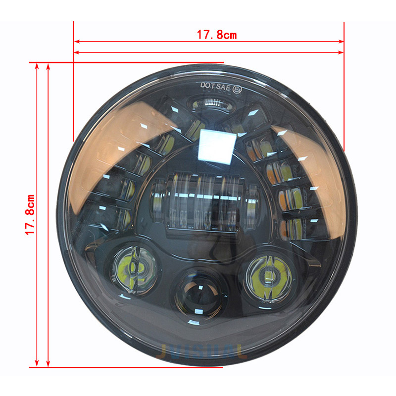 7 inch Car Led Headlight 4x4 Off road Led H4 Hi/Lo Beam led Auto Headlight Kit for Jeep Wrangler JK CJ Motorcycle h4 motorcycle led headlight hi low beam scooter headlight