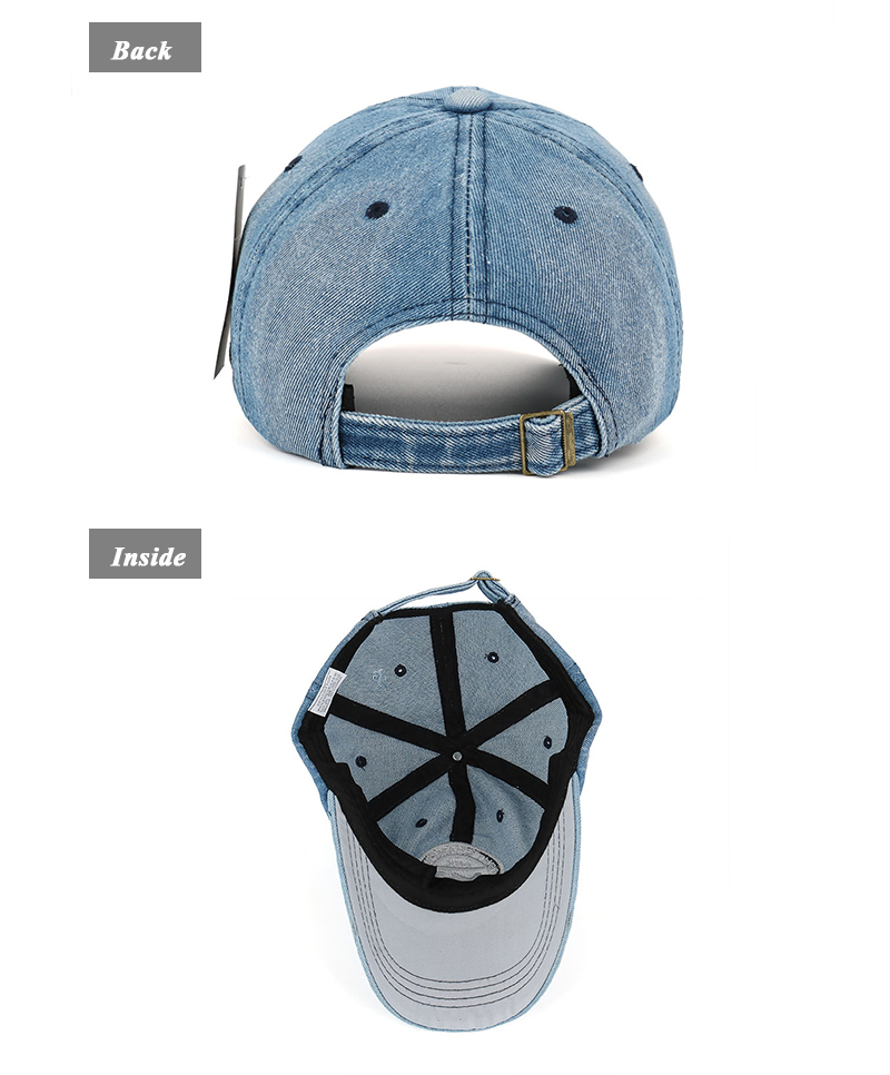 New arrival high quality snapback cap demin baseball cap 5 color Jean badge embroidery hat for men women boy girl cap B346 21