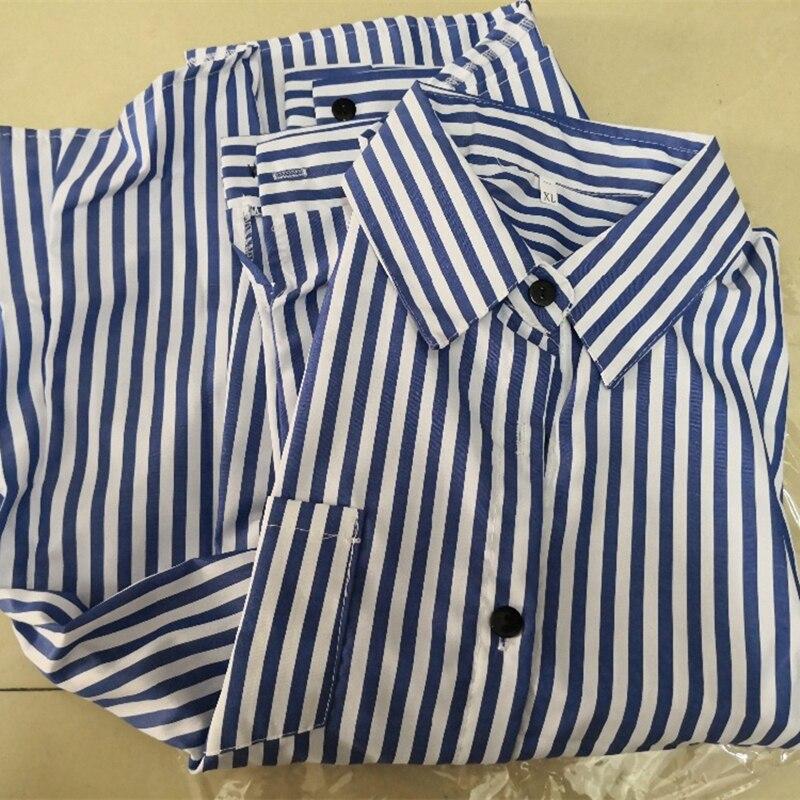 Blouse Of Overhemd.Vrouwen Gestreepte Lange Mouw Blouse Overhemd Vrouwelijke Losse