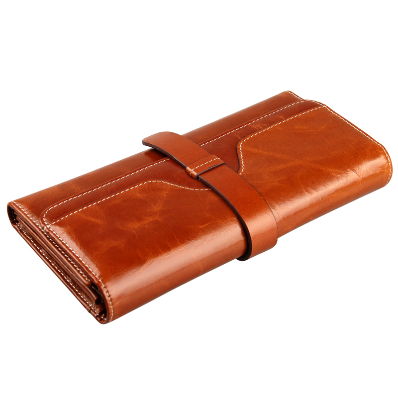 NEW Genuine Leather Women Wallet Carteira Feminina Ladies Clutch Purse Natural Cowhide Brand Wallet For Women Card Holder 100% women genuine leather wallet oil wax cowhide purse woman vintage lady clutch coin purses card holder carteira feminina