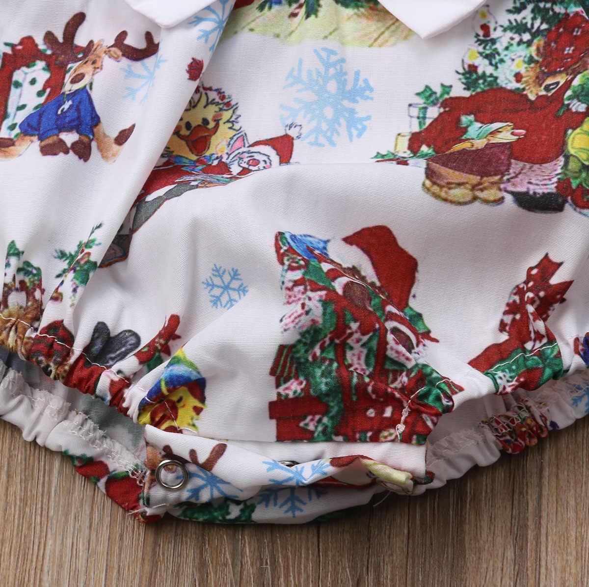 Рождественские боди для новорожденных; милые комбинезоны с рисунком для маленьких девочек; одежда принцессы для малышей; костюмы без рукавов для младенцев