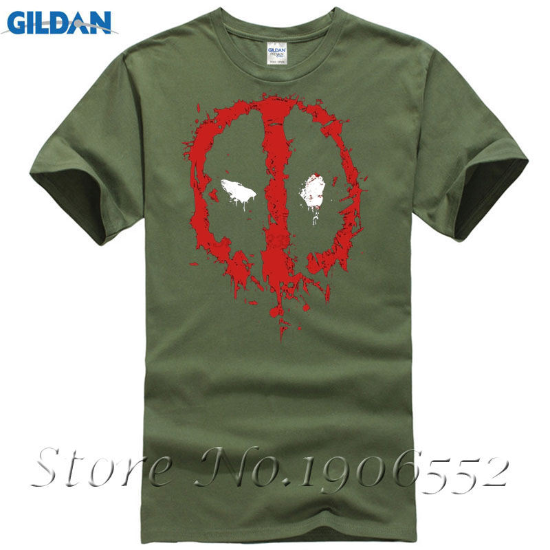 Short Sleeve Icon of Deadpool T Shirt Men Demin Group T Shirts Camiseta Basquete Custom Designer Shop Sale 100 % Cotton T Shirt