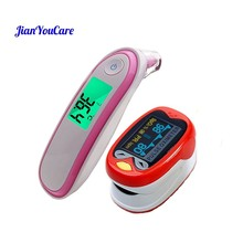 Finger Pulse fingertip Oximeter children kids De Pulso De Dedo Pediatric oximetro SpO2 Saturation Meter Ear Forehead Thermometer