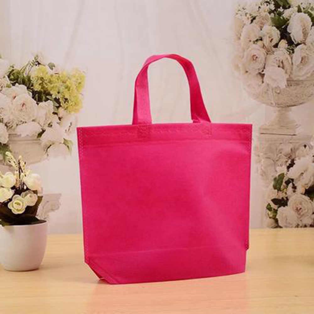 1 pc Sacos de Tecido Não Tecido Saco de Compras Reutilizável Dobrável Eco Bag Tote Bolsa Para A promoção/Presente/sapatos/ natal Sacos de Supermercado Loja