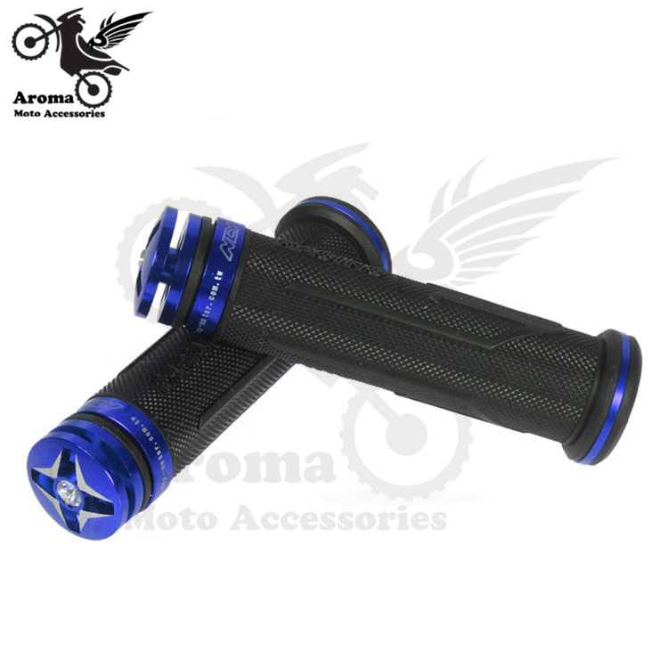 "Motorbike Blue Hand Grips for 22mm 7//8/"" Handlebars Aluminium Rubber"