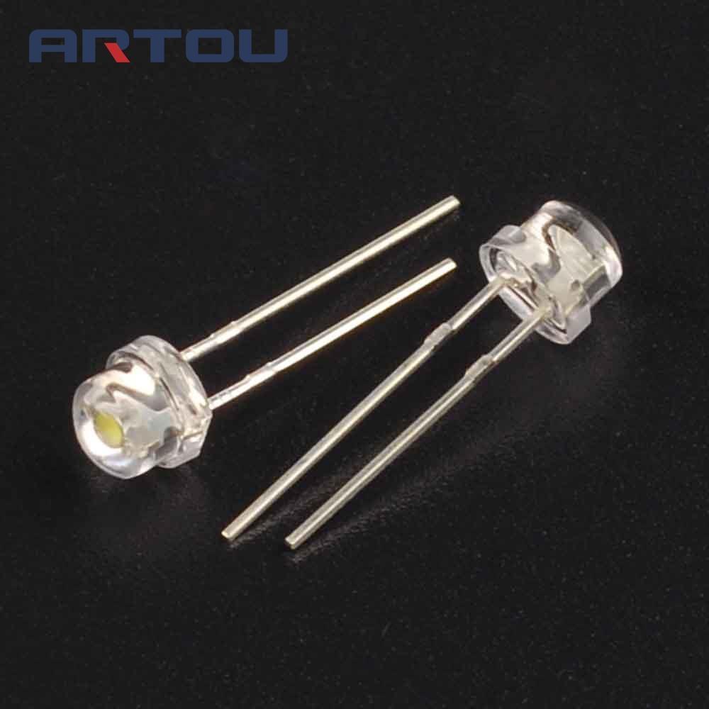 50pcs 5mm super bright white light emitting diode dip led straw hat rh aliexpress com