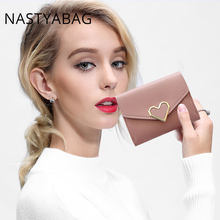 Купить с кэшбэком Women Wallet Small Brand Purse Women Leather Ladies Hand Bag Women Wallets Money Clip For Girls Slim Wallet Clutch Mini Bags