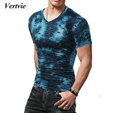 Vertvie Men's Sports T-shirt Gym Fitness Bodybuilding Running Short Sleeve Sportswear Shirts O-neck Breathable Elastic T shirt