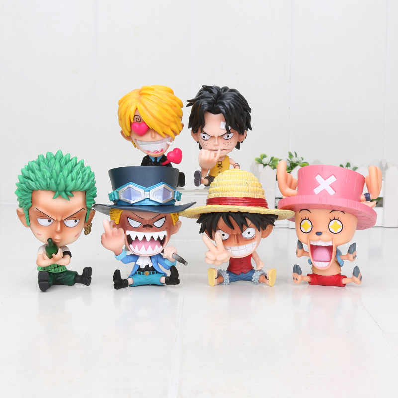 Q Versie Een Stuk Jeugd Figuur Zoro Sanji Sabo Luffy Chopper Ace Nami Gk Ver. Pvc Action Figure Collection Model Pop Speelgoed