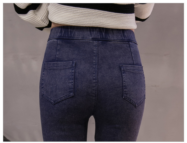 18 New Fashion Jeans Women Pencil Pants High Waist Jeans Sexy Slim Elastic Skinny Pants Trousers Fit Lady Jeans Big Size 1348 11