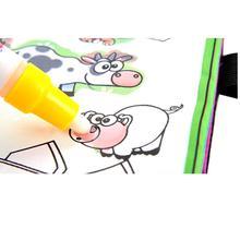 Книжка-раскраска чертежной doodle забронировать картина книги рисунок магия животных воды дети