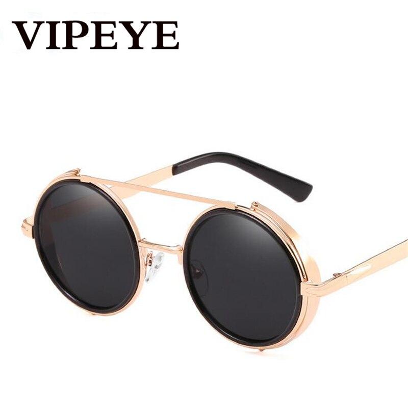 Women's Glasses Provided Vipeye New Round Frame Retro Sunglasses Women Men Fashion Trend Anti-uv Unisex Sun Glasses 2019 Exquisite Craftsmanship; Women's Sunglasses