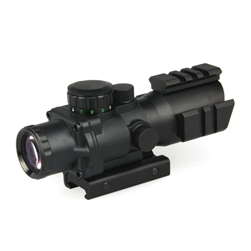 CANIS LATRANS CL1-0233 Outdoor Weapon Aiming 4x32 Riflescope Assault Tactical Sniper Scope Optic Sight 4x Prismatic Rifle Scope canis latrans tactical mini 1x red 2moa dot dot size free shipping cl2 0078