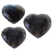 Natural Colorful Moonlight Heart Stone Ornament Quartz Decoration For Friends Girlfriend Family Birthday Gift