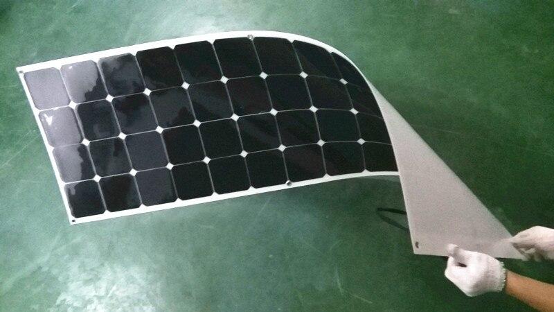 Новая на рынке солнечная панель 100 Вт ватт с клейкой палкой с клеем Китай Painel Cells зарядное устройство монокристаллический кремний - Цвет: white