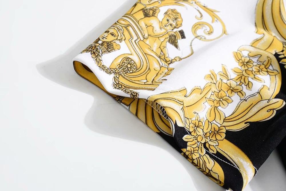 2019 Style Luxe Femmes Célèbre Design Marque Ensembles Vêtements Ah03154 Piste Partie De Mode Européenne 5xZ7YU1