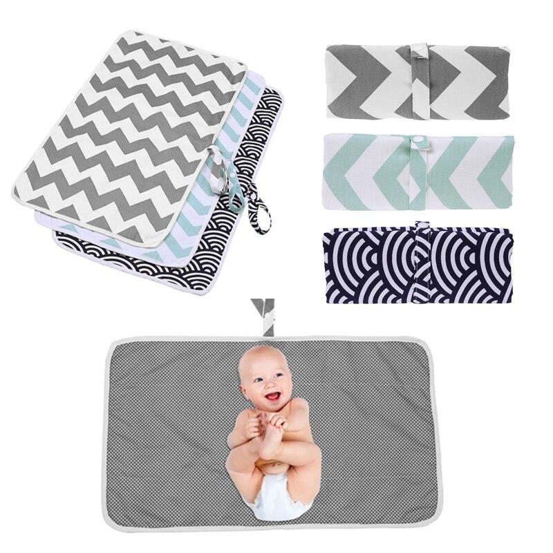 1pc Urine Pad Waterproof Infant Baby Changing Mat Diaper Nappy Cover Saliva Bib