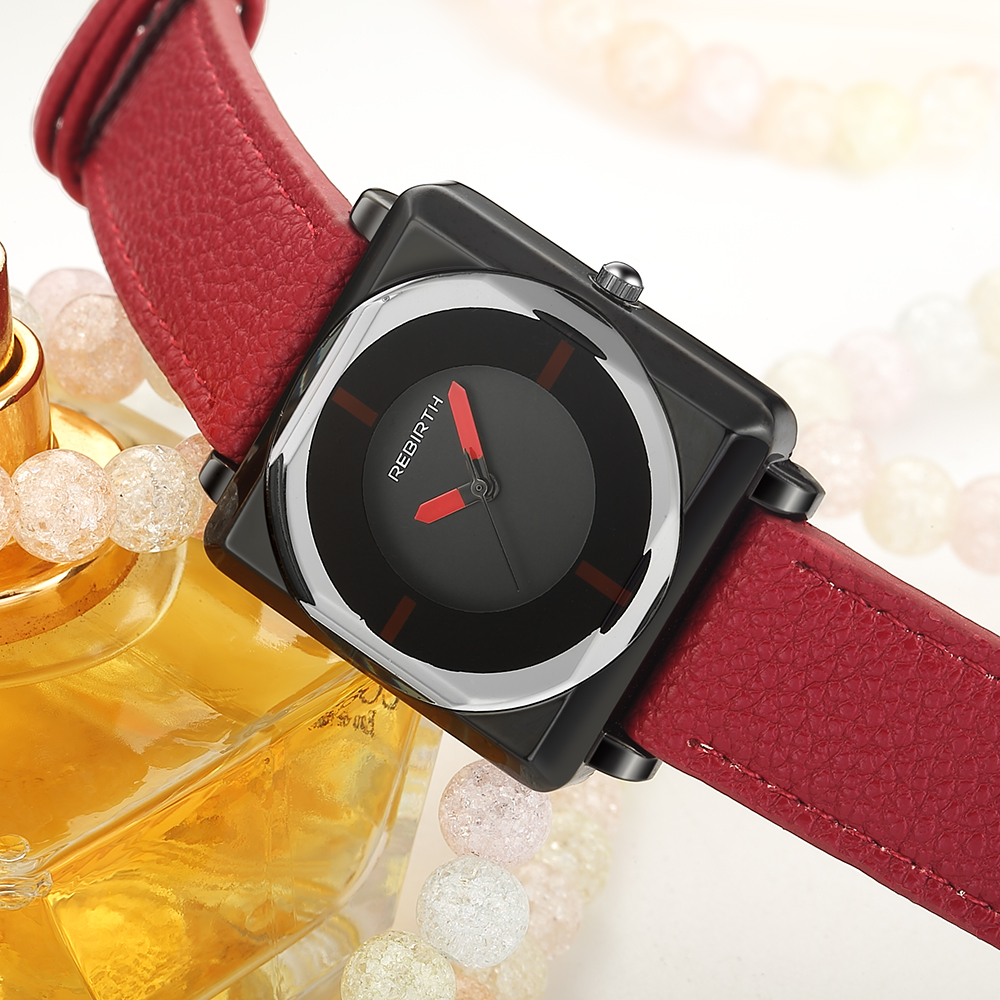 2018 Top Brand Square Women Bracelet Watches Contracted Leather Crystal WristWatches Women Dress Ladies Quartz Clock