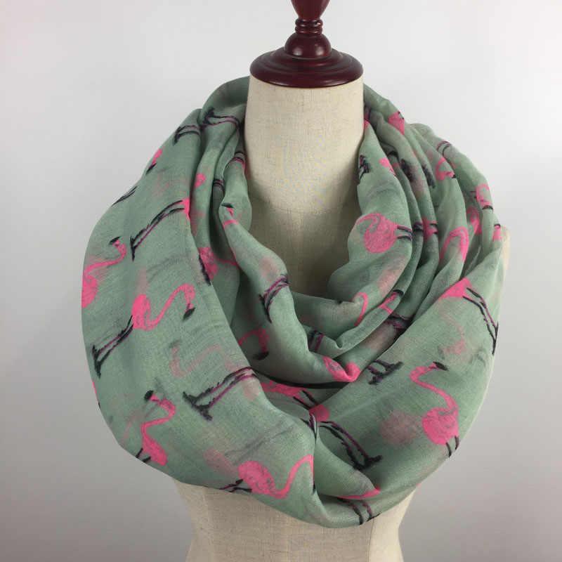 2018 Designer Brand Fashion Infinity Scarfs Spring winter goose Print Tube Scarves For Women shawl hijab