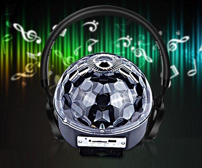 Bluetooth USB MP3 6LED/9LED RGB Remote control magic crystal ball ktv disco party colorful stage Sound LED magic ball Light