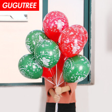 Decorate 100pcs 10inch green red latex balloons wedding event christmas halloween festival birthday party HY-383