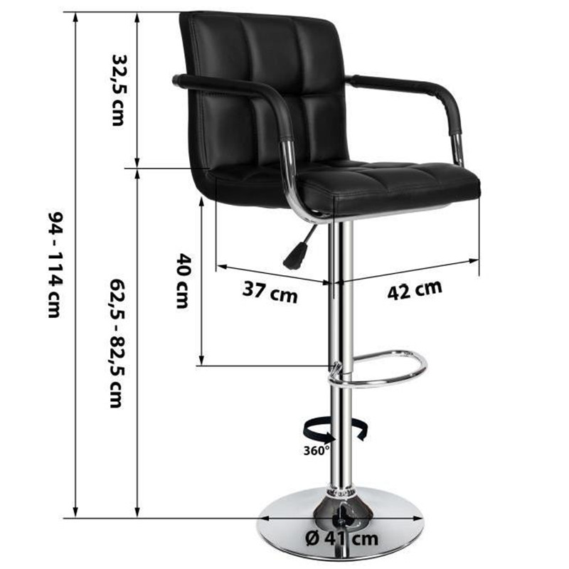 Synthetic Leather Swivel Bar Stools