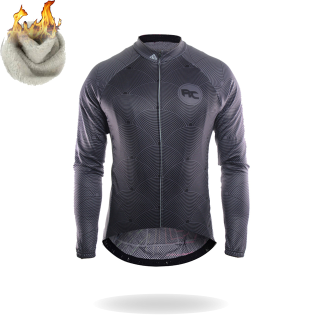 Racmmer Warm 2018 Pro Winter Thermal Fleece Cycling Jersey Ropa Ciclismo Mtb  Long Sleeve Men Bike Wear Clothing Maillot  ZR-13 e755b2e56