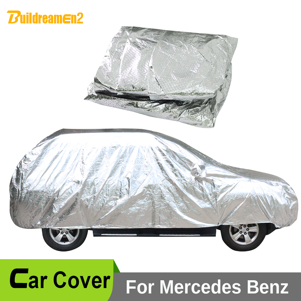 Buildreamen2 Full Car Cover Sun Anti-UV Snow Rain Hail Scratch Resistant Covers Waterproof For Mercedes-Benz GL 400 350 500 AMG buildreamen2 car cover waterproof suv anti uv sun shield snow hail rain dust protective cover for gmc terrain acadia envoy yukon