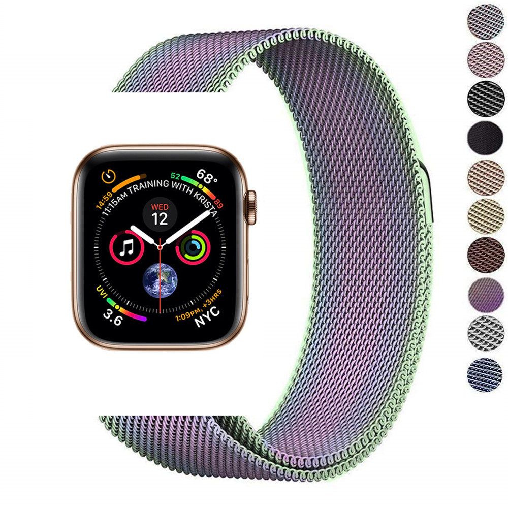 Milanese loop sport band for apple watch 42mm 38mm iwatch series 4 3 2 1 44mm 40m watchs women bracelet stainless steel wrist so buy for apple watch series 3 2 1 watchbands 38mm belt 42mm stainless steel bracelet milanese loop strap for iwatch metal band