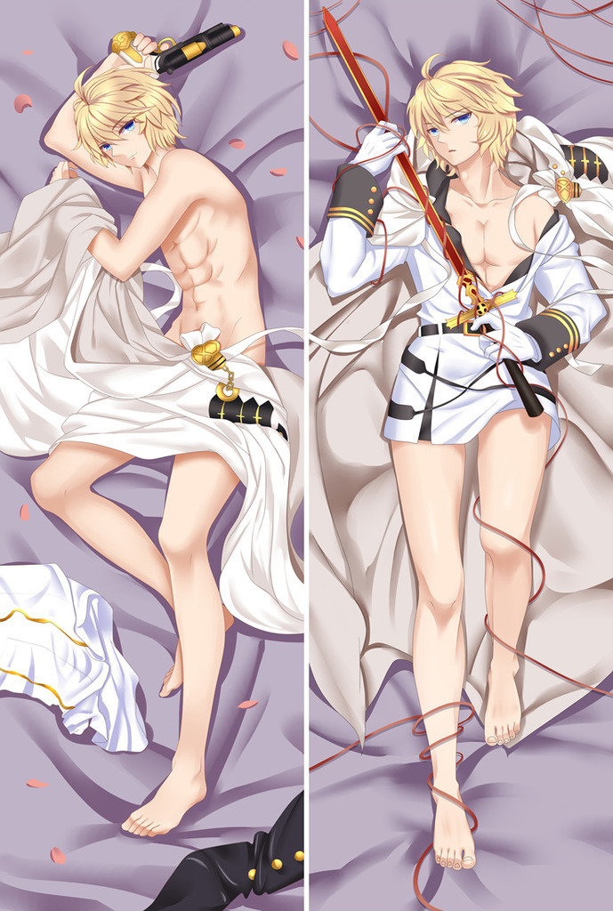 Japanese Anime Seraph Of The End Vampire Mikaela Hyakuya Otaku Male Hugging Body Pillow Cover Cases Boy Dakimakura