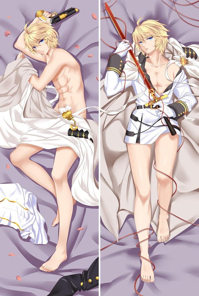 Japanese Anime Seraph Of The End Vampire Mikaela Hyakuya Otaku Male Hugging Body Pillow Cover Cases Boy Dakimakura