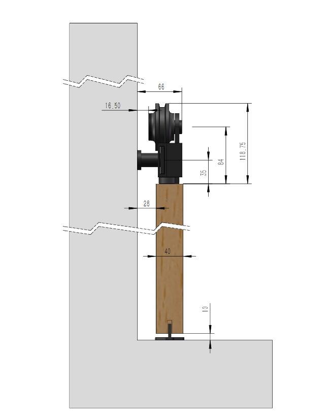 DIYHD 1.5m~2.44m Top Mount Rustic Black Sliding Barn Door Hardware Easy Install Barn Door Sliding Track Kit