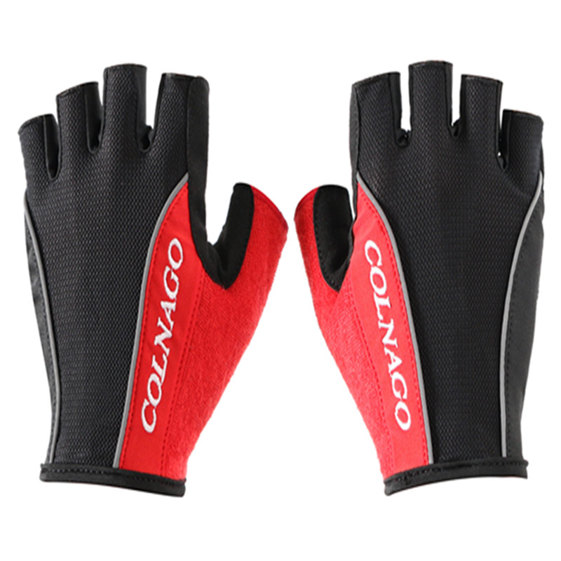 Colnago Cycling Gloves Half Finger Bike Gloves Shockproof Breathable MTB Mountain Bicycle Gloves Men Sports Cycling Clothings