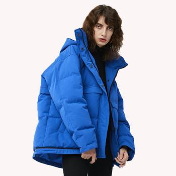 90% duck down fashion brand winter Europe station England style down jacket female Foldable on bottom hooded coat wq805 dropship