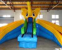Popular elephant inflatable slide  inflatable pool slides