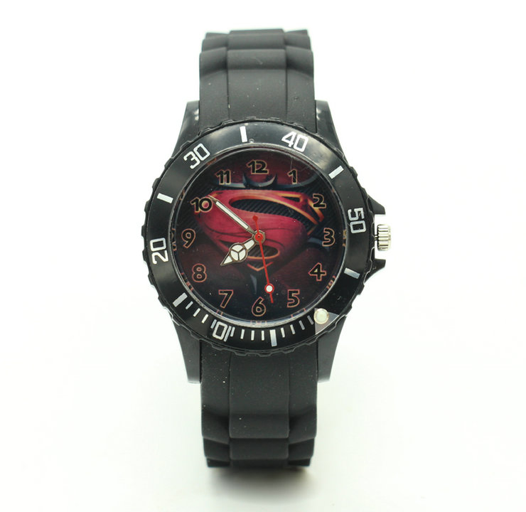Quartz-Watch Superman Rubber Wristwacth Silicone Sport Fashion Cool For Men Male Women